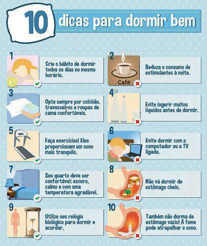 Denise Mineiro - 10 dicas para dormir bem
